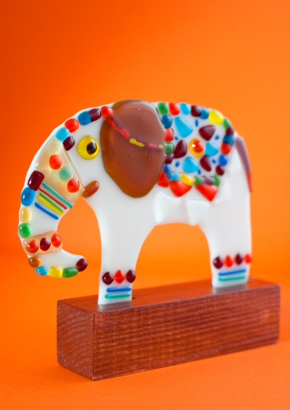 Fusing glass Elephant